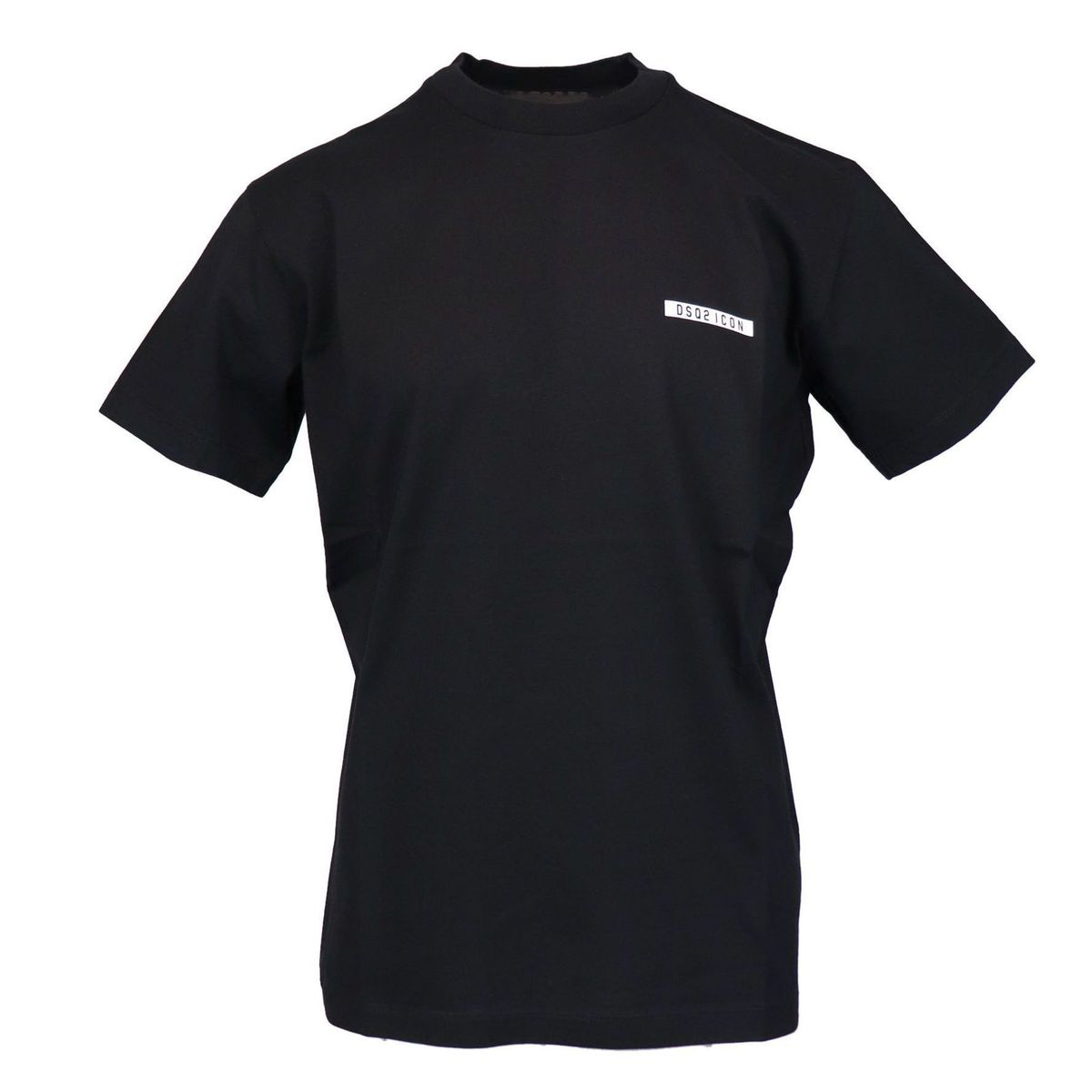 Cotton t-shirt with side logo print Black Dsquared2
