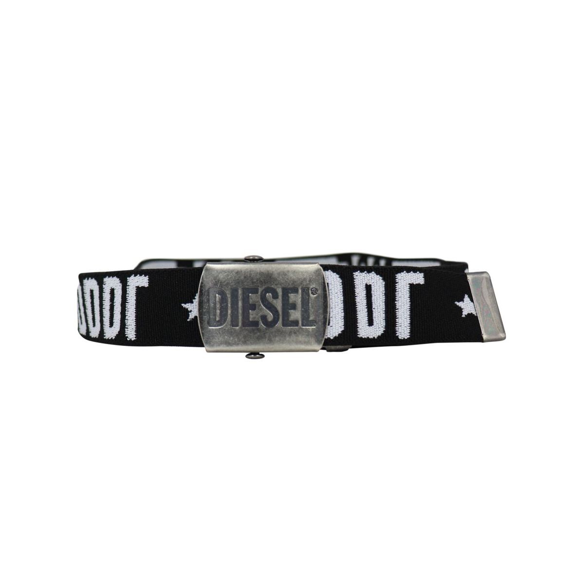Stretch Barty belt with logo Black Diesel