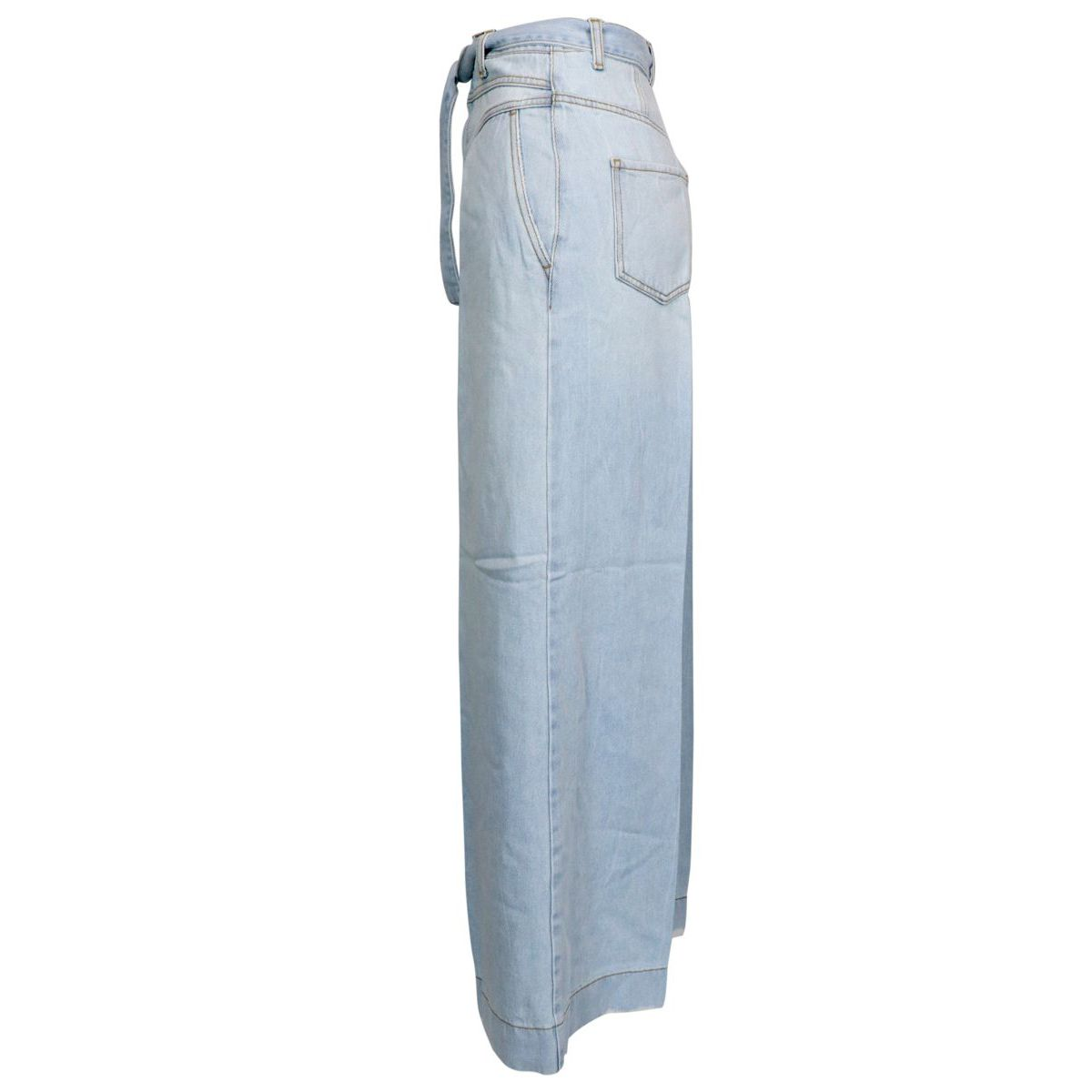 PATTY wide-legged jeans with a bag waist Light denim Pinko