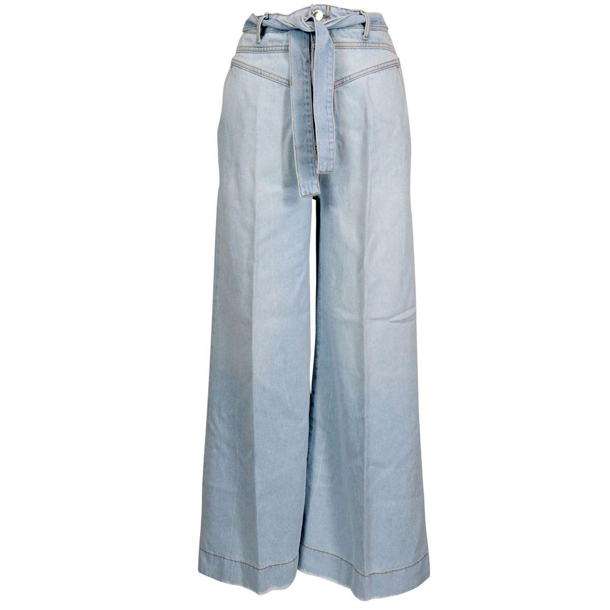 PATTY wide-legged jeans with a bag waist Light denim Pinko