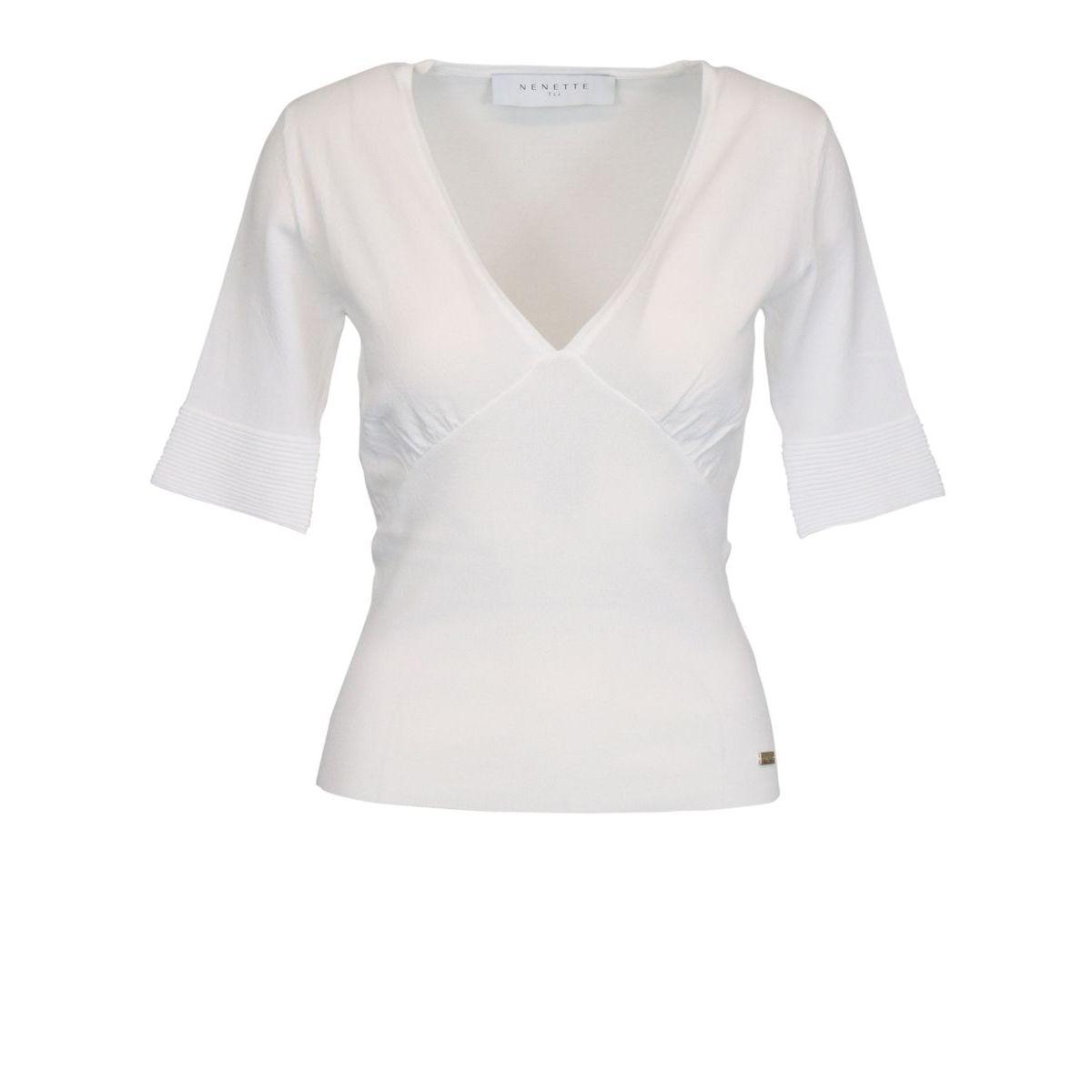 MIUCCIA viscose blend sweater White Nenette