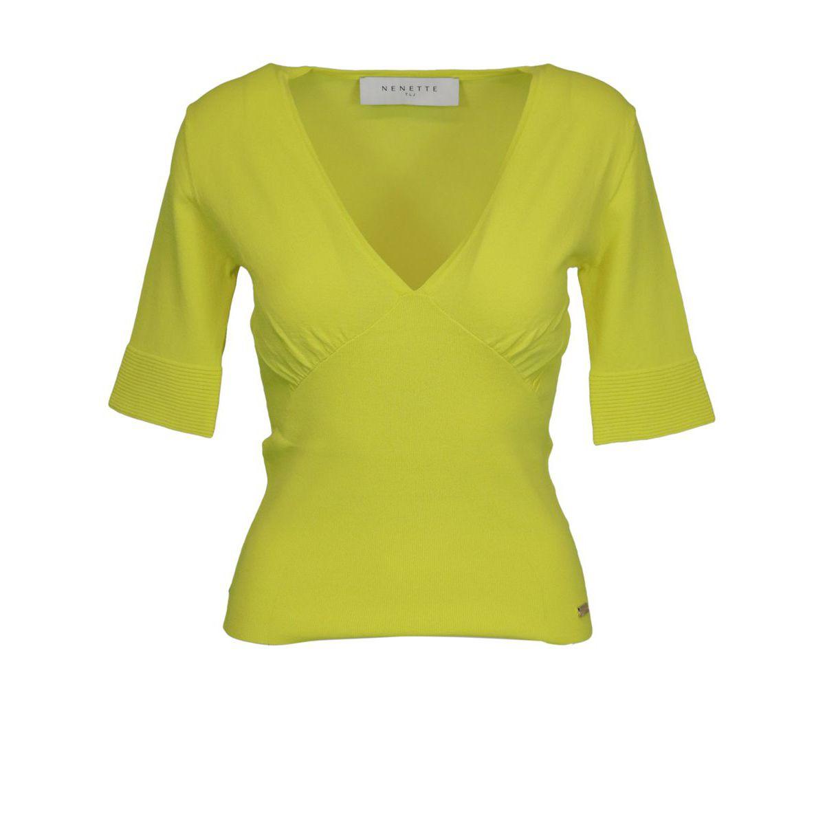 MIUCCIA viscose blend sweater Yellow Nenette