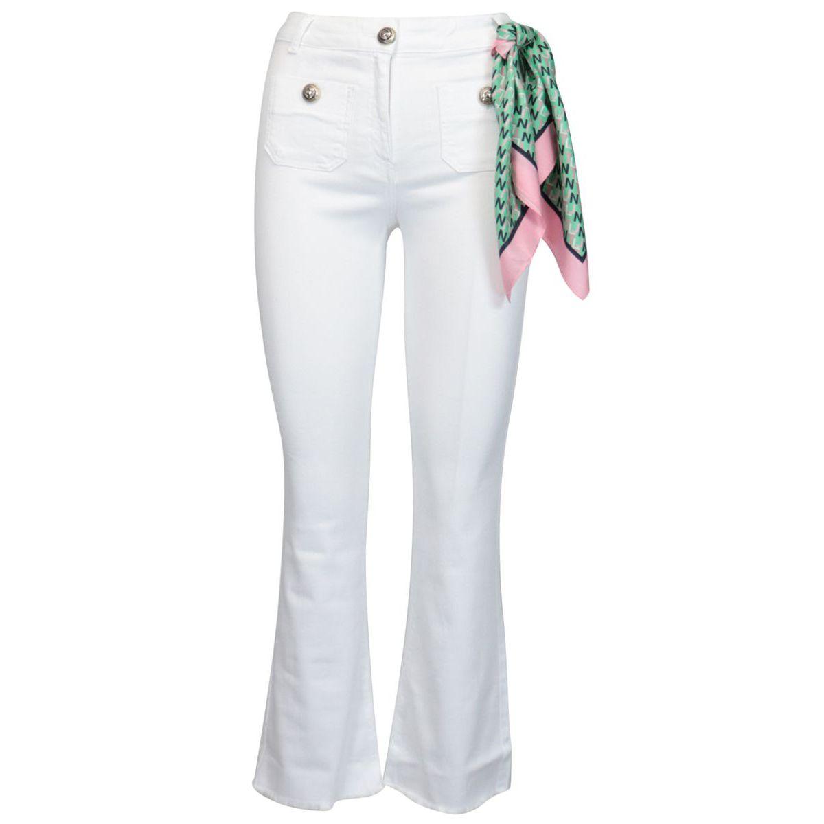 Sole trousers in stretch cotton White Nenette