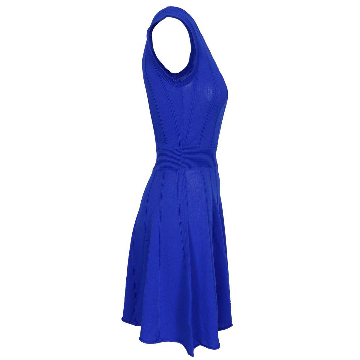 Sleeveless TORONTO dress in viscose blend Bluette Nenette