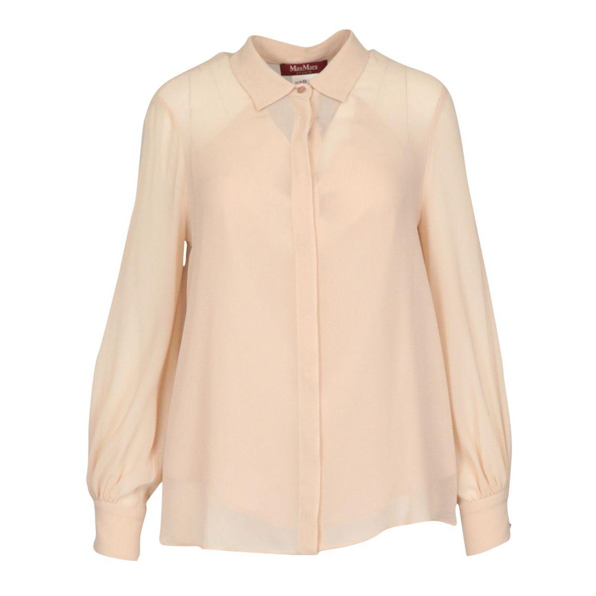 Ciurma shirt in silk blend Face powder MAX MARA STUDIO