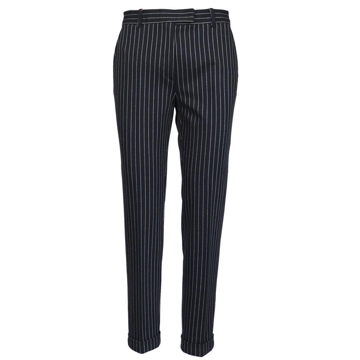 Luca trousers in viscose blend Blue MAX MARA STUDIO
