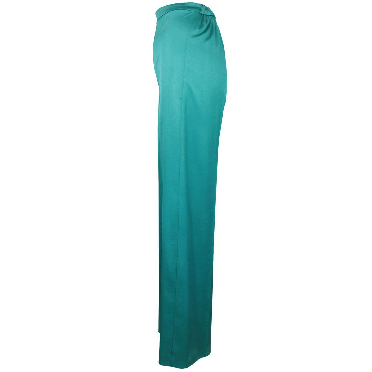 Wide trousers in satin with high waist CALZONE Green water Pinko