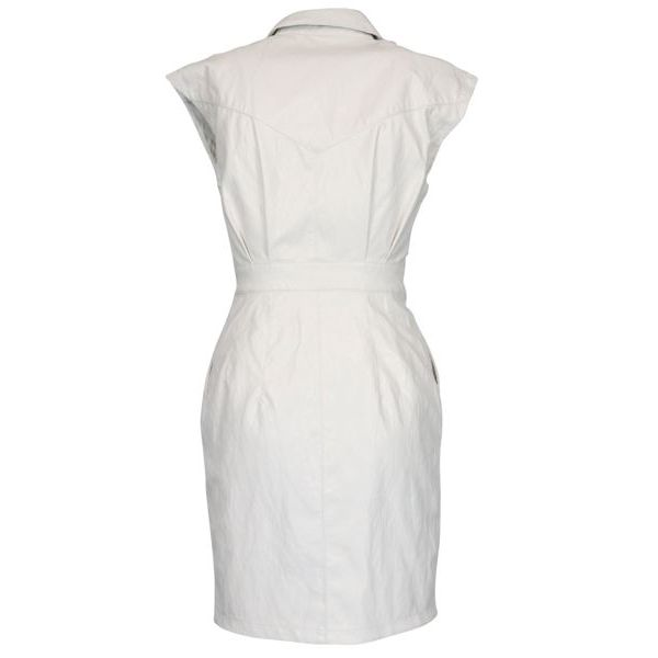Savarin leather effect dress White Pinko