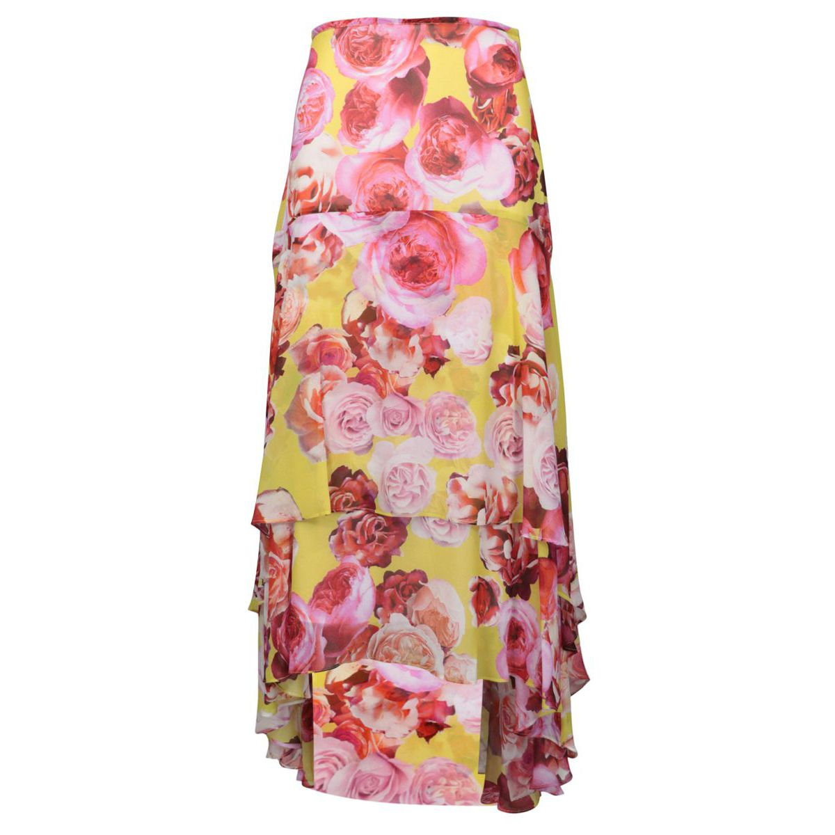 BONET chiffon skirt with flower pattern Multicolor Pinko