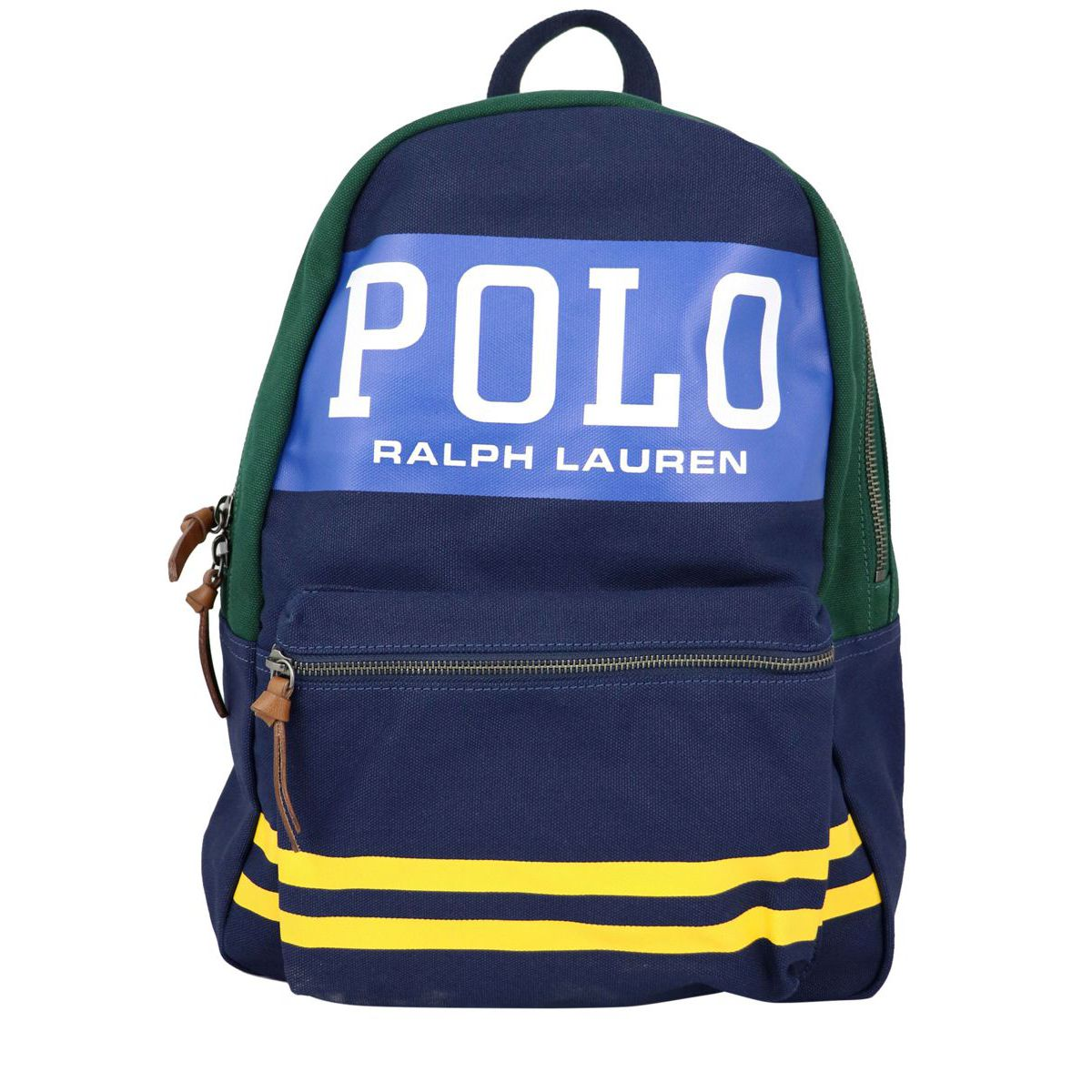 2-pocket backpack with logo print Navy Polo Ralph Lauren