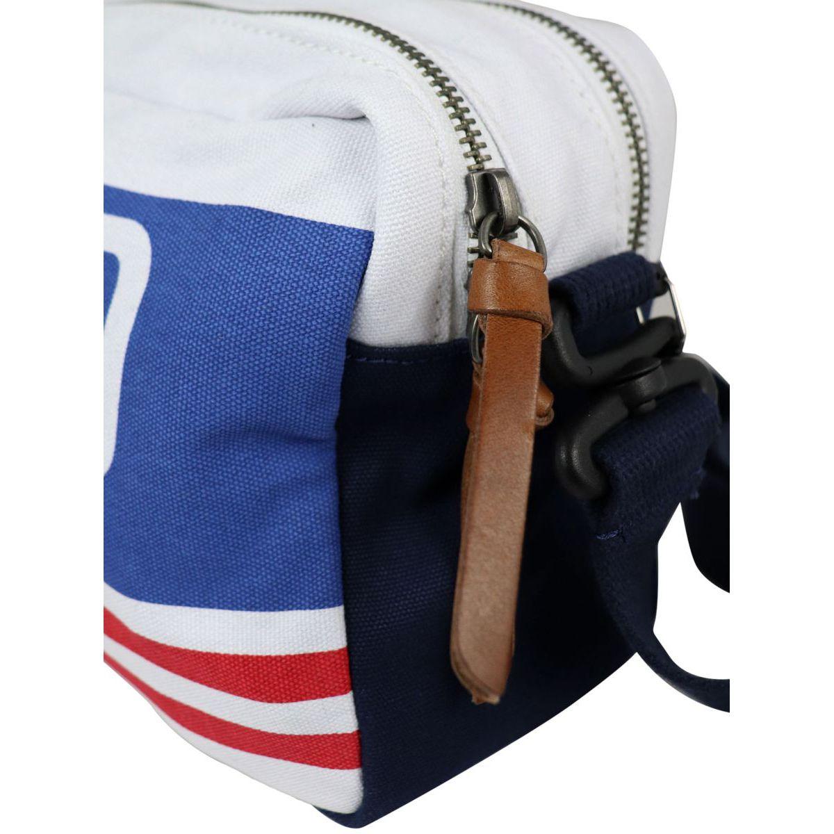 Canvas shoulder bag with logo print White Polo Ralph Lauren