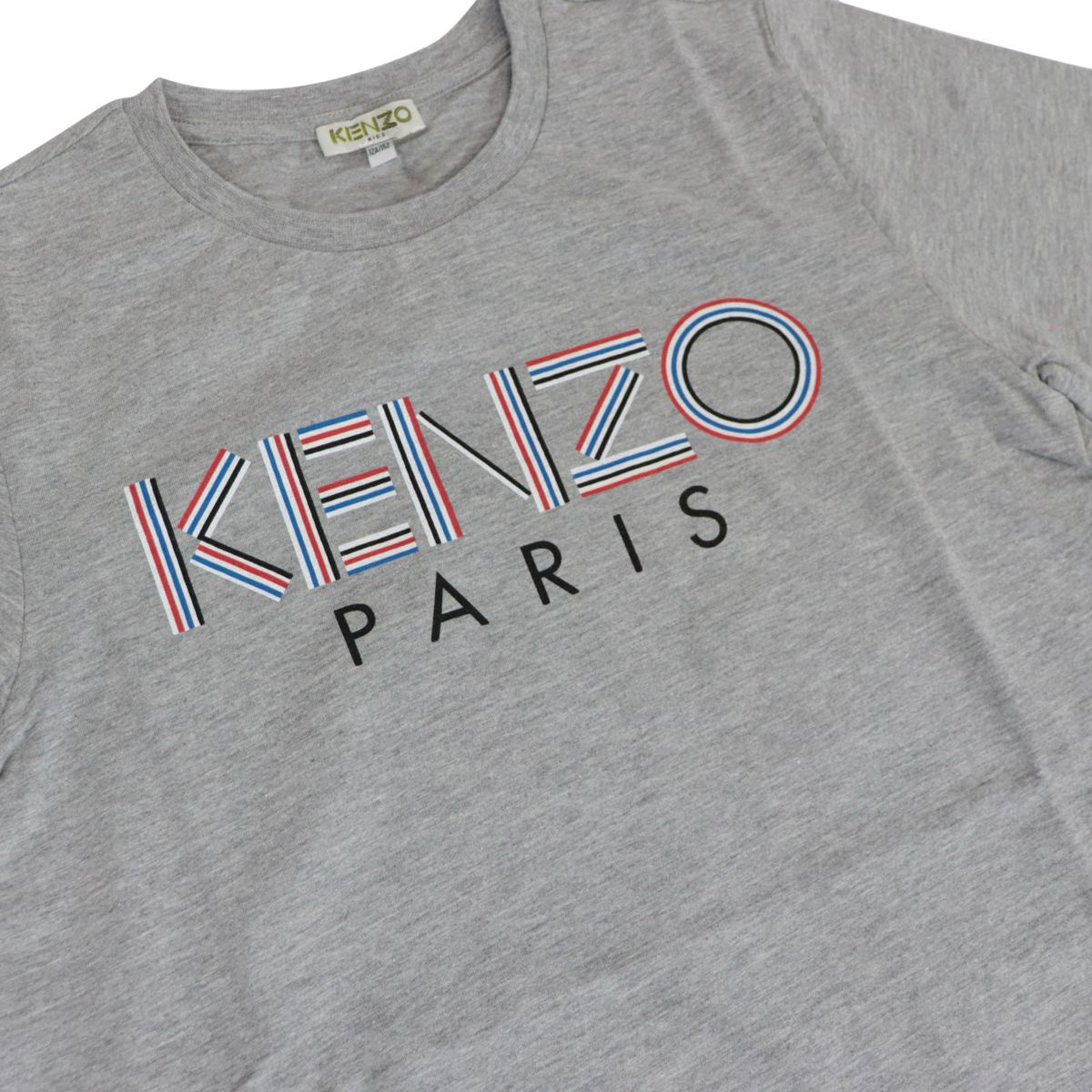 Short sleeve t-shirt in cotton blend with logo Medium gray Kenzo