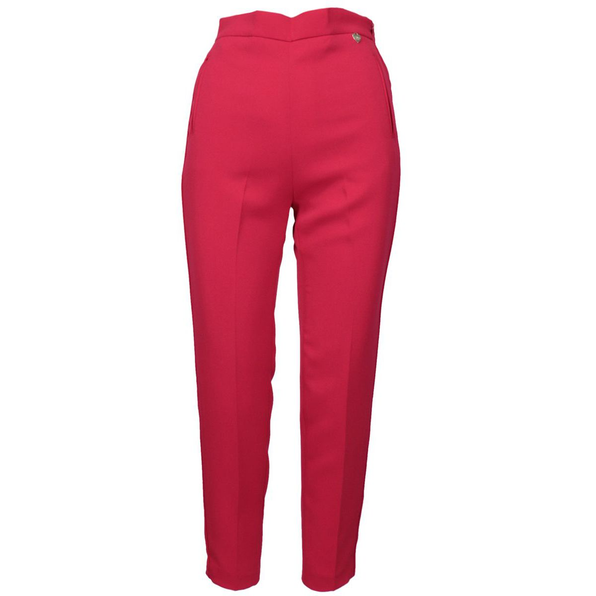 Georgette trousers with elastic waist and crease Amarena Twin-Set