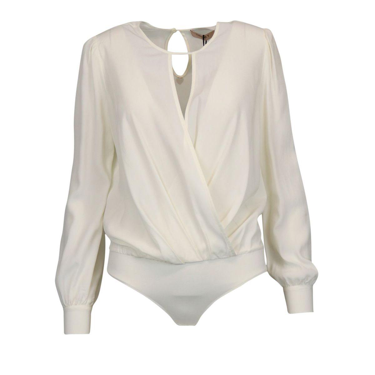 Blouse body in silk blend Light beige Twin-Set