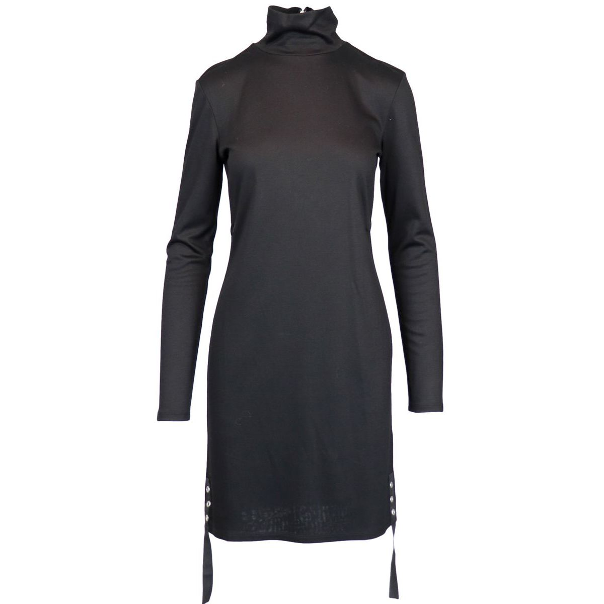 Long sleeve dress in viscose Black Patrizia Pepe