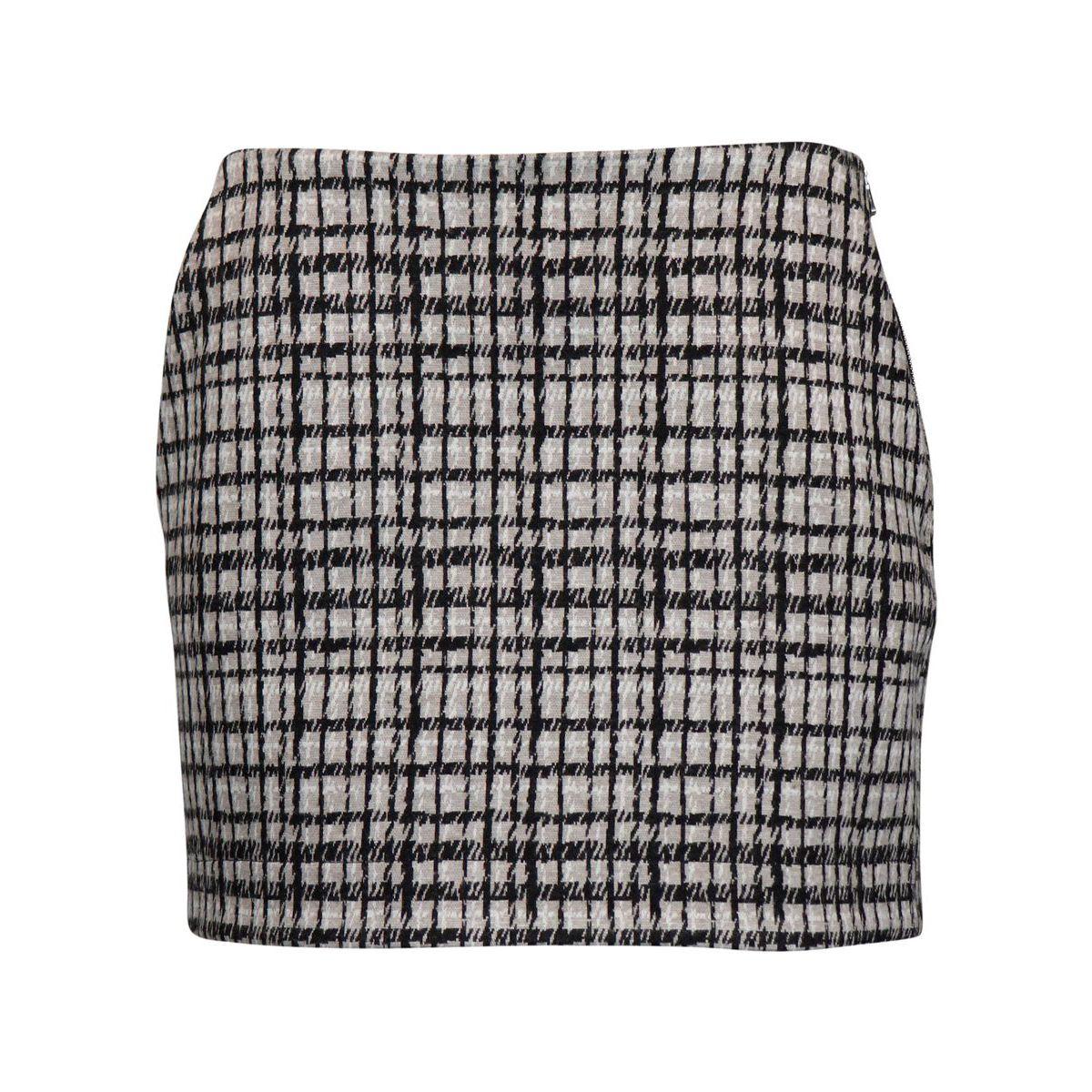 Viscose blend skirt with check print Gray check Patrizia Pepe