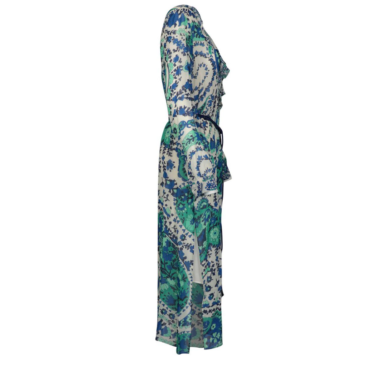 Long dress in cashmere printed georgette Blue Twin-Set