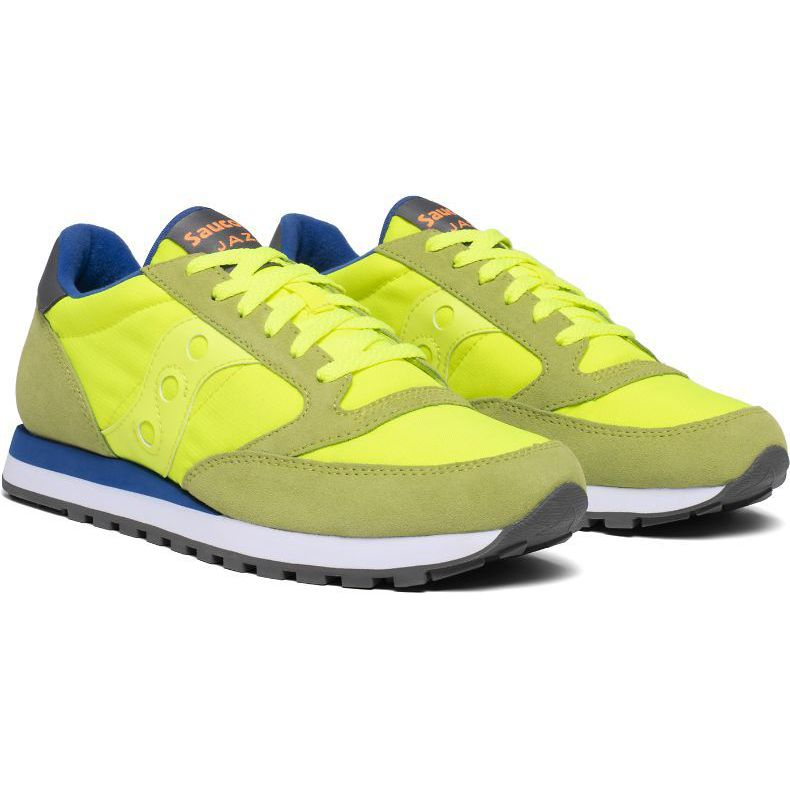 Jazz O sneakers in suede Citron blue Saucony