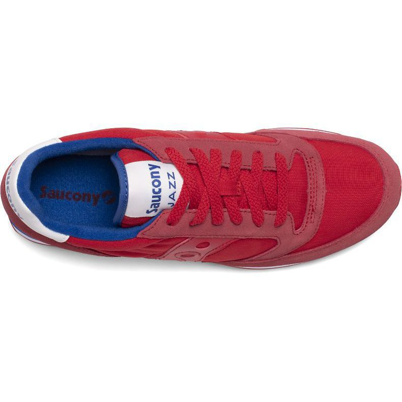Jazz O sneakers in suede Red blue Saucony