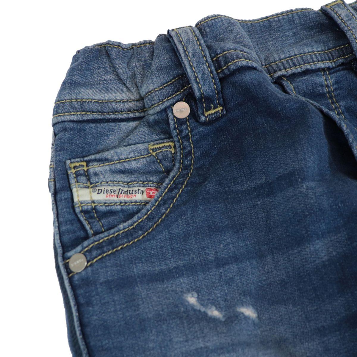 Used denim jeans with elastic Medium denim Diesel