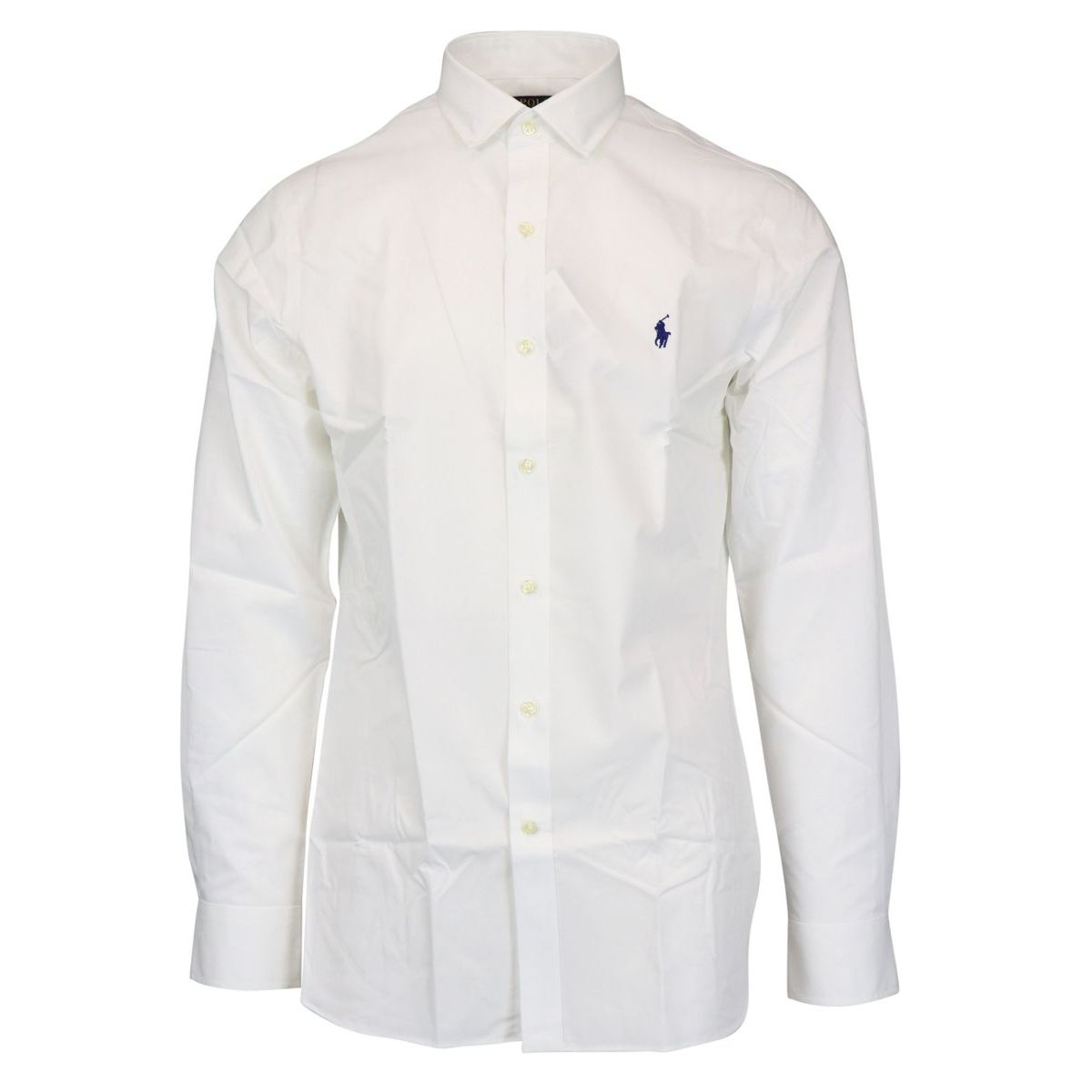 Slim-fit cotton shirt with French collar White Polo Ralph Lauren
