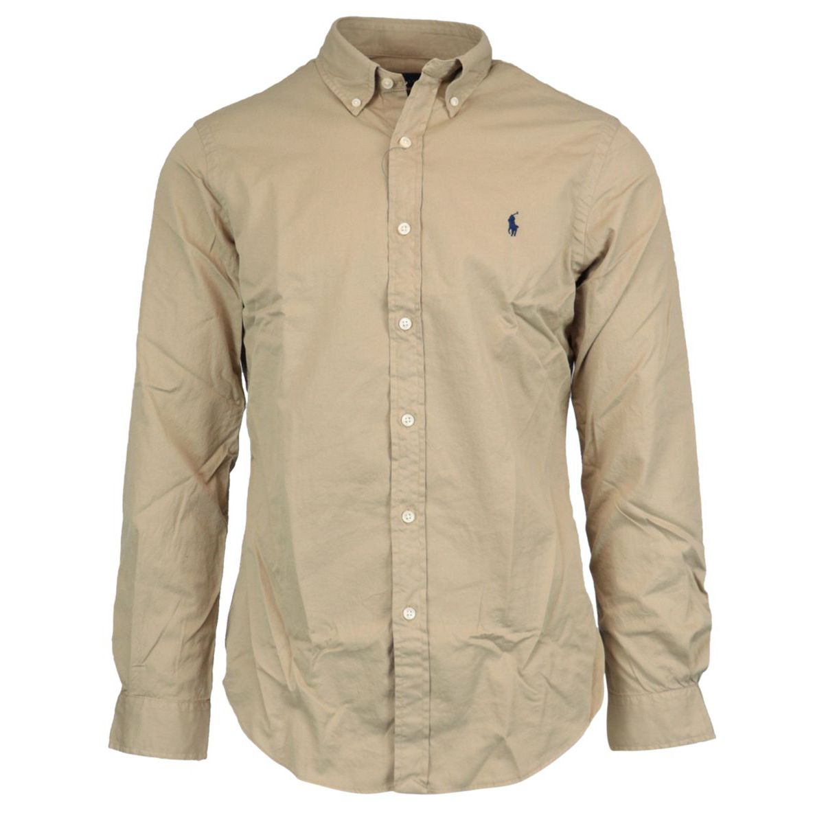 Slim-fit cotton shirt with button-down collar Caramel Polo Ralph Lauren