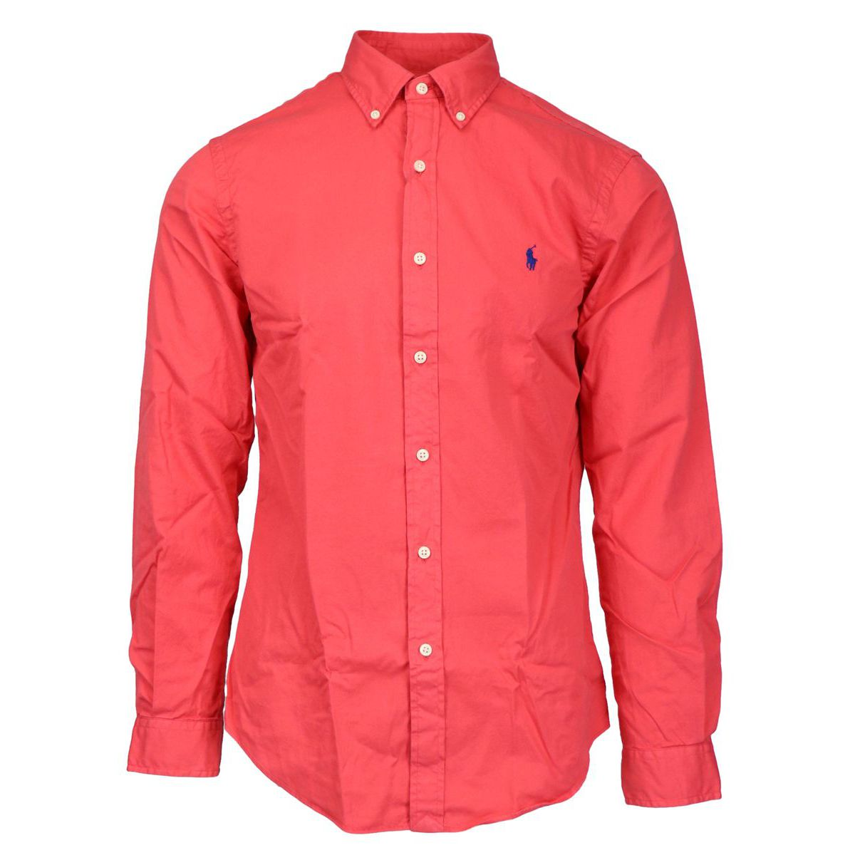 Slim-fit cotton shirt with button-down collar Coral Polo Ralph Lauren