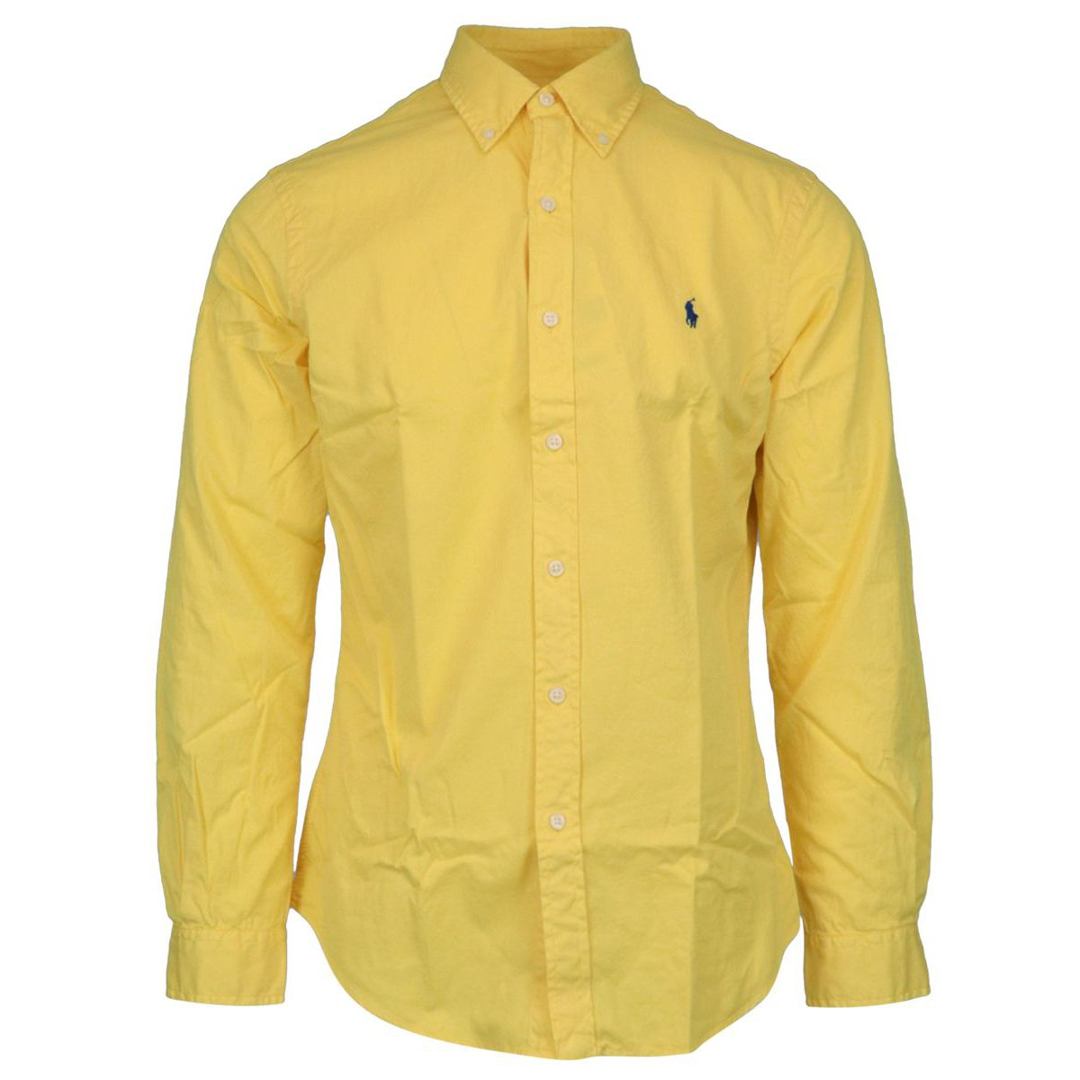 Slim-fit cotton shirt with button-down collar Yellow Polo Ralph Lauren