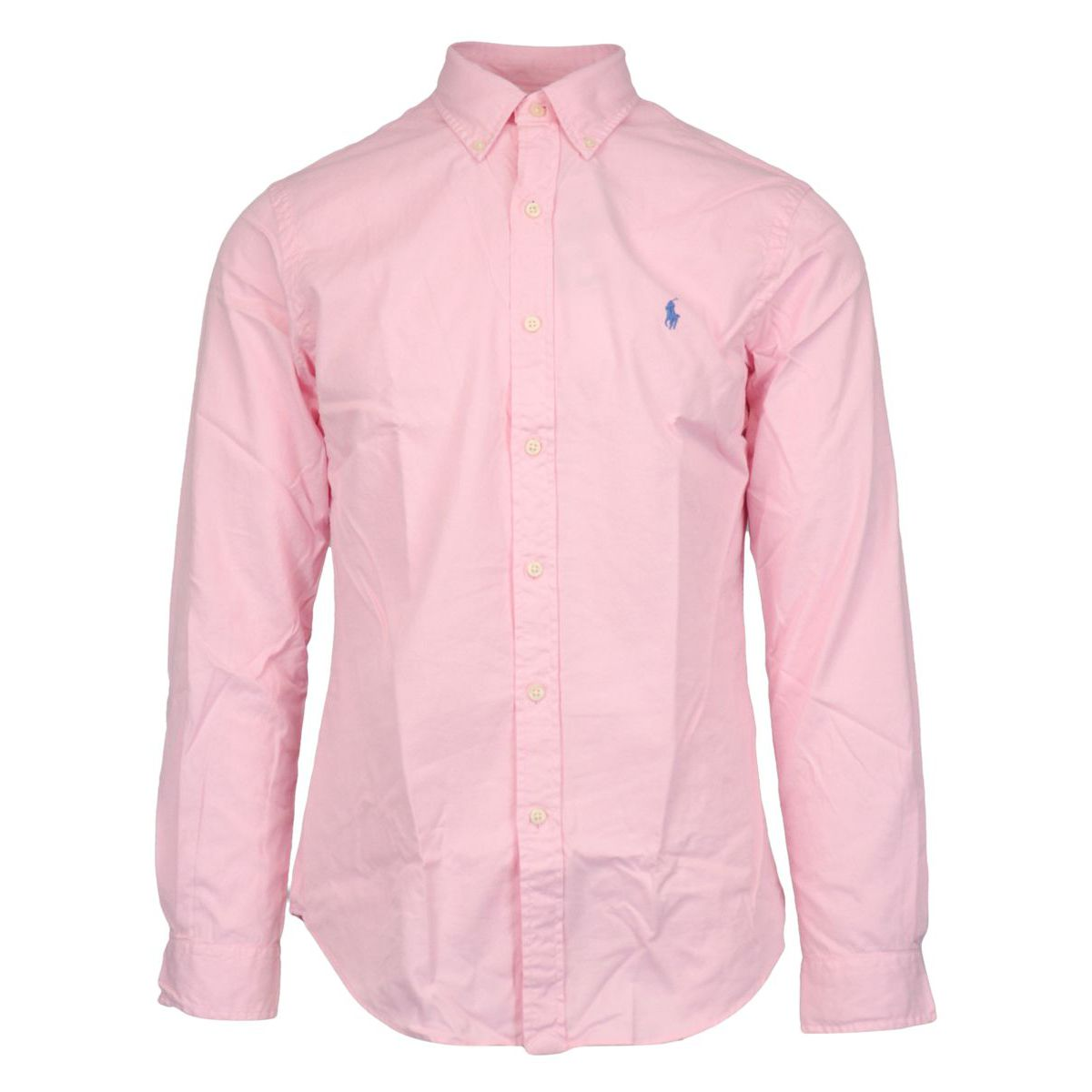 Slim-fit cotton shirt with button-down collar Rose Polo Ralph Lauren