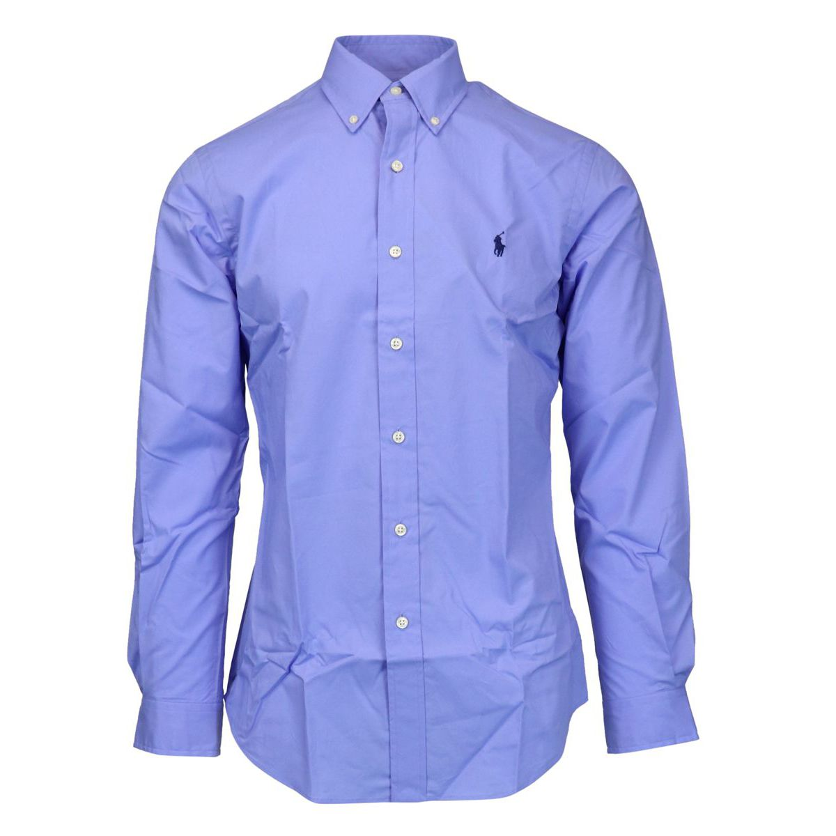 Custom-fit button-down cotton shirt Light blue Polo Ralph Lauren