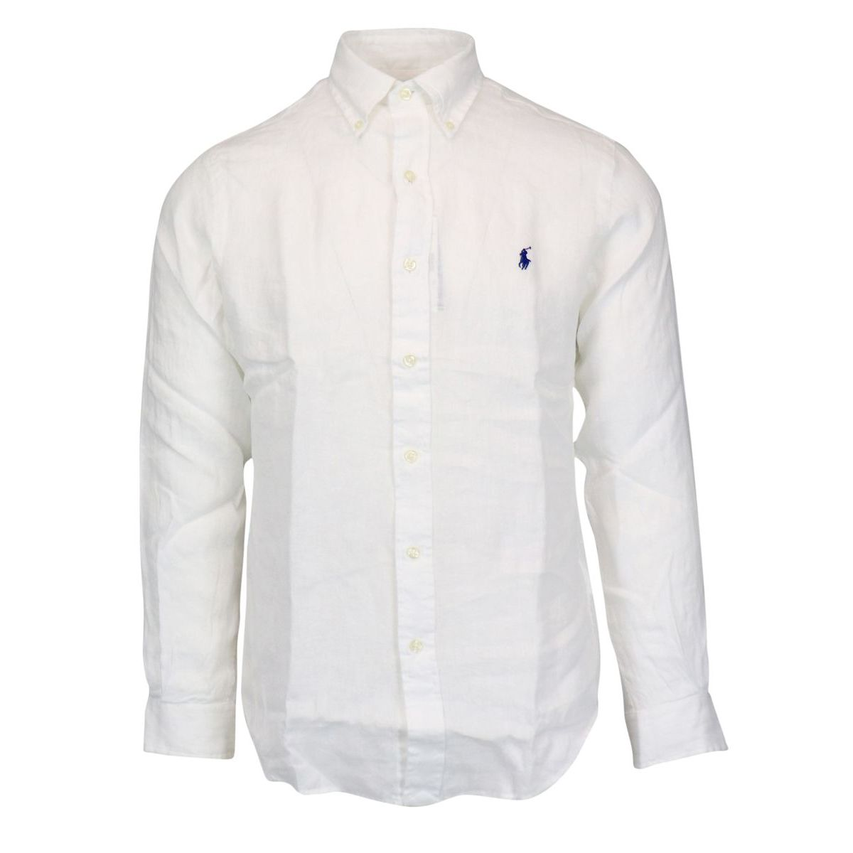 Custom-fit button-down linen shirt White Polo Ralph Lauren