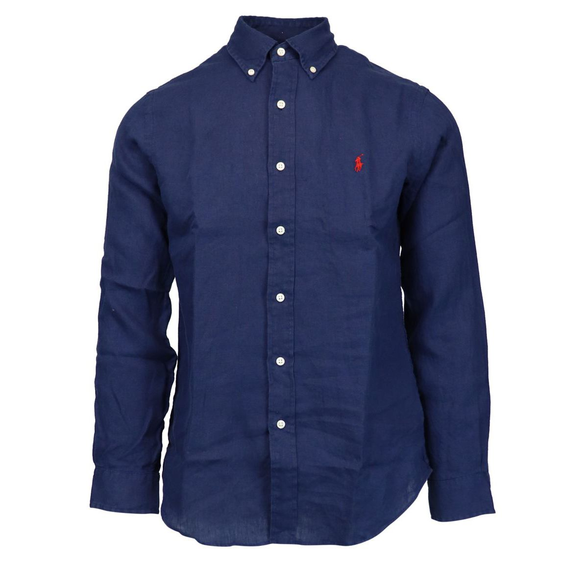 Custom-fit button-down linen shirt Navy Polo Ralph Lauren