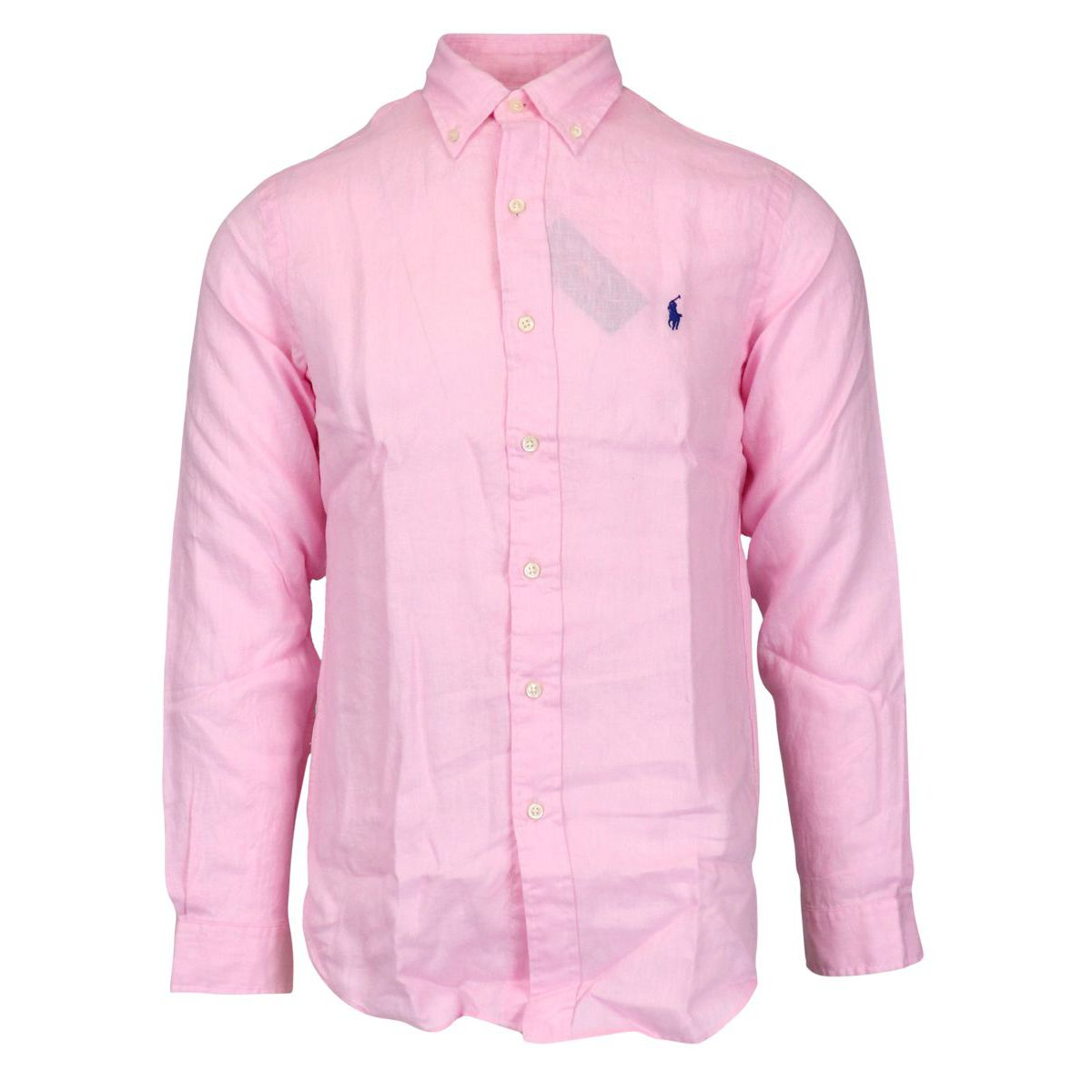 Custom-fit button-down linen shirt Rose Polo Ralph Lauren