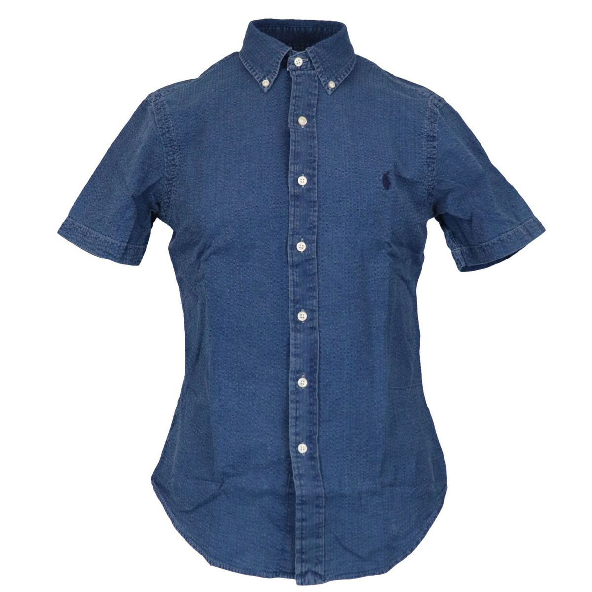 Custom-fit button-down cotton shirt Indigo Polo Ralph Lauren