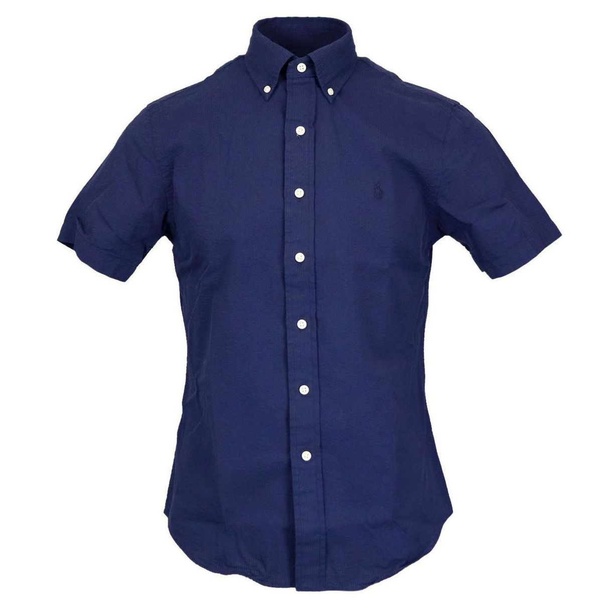 Custom-fit button-down cotton shirt Navy Polo Ralph Lauren