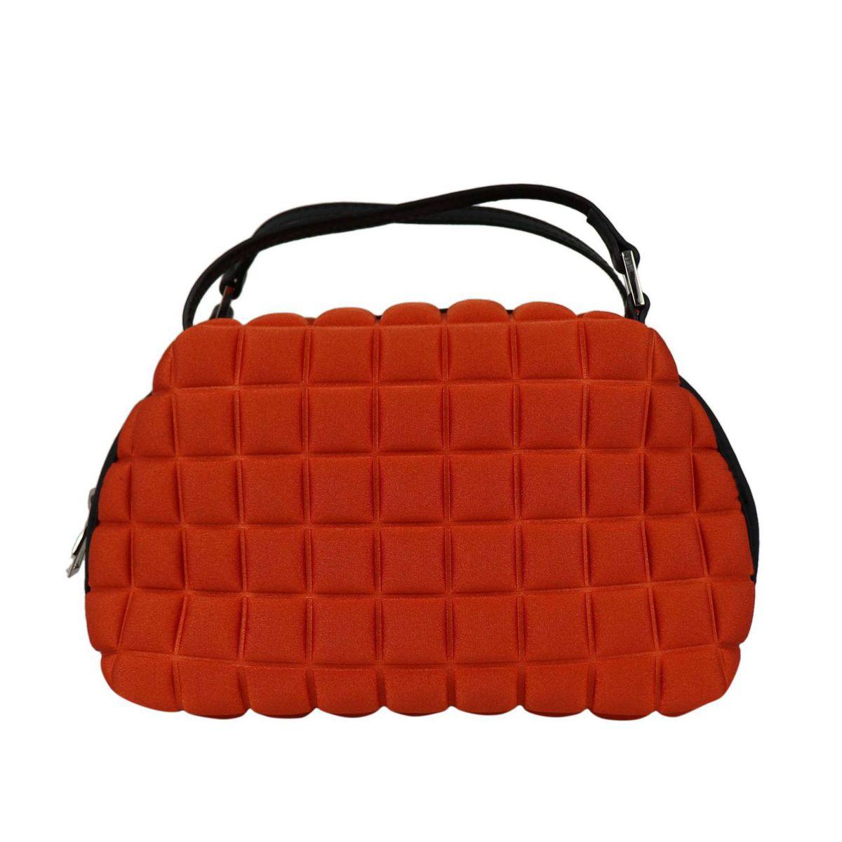 Handy bag in cube fabric Pumpkin BPRIME