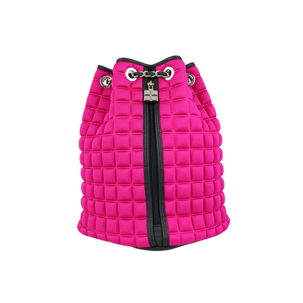 Chain backpack in Cube 3D fabric Fuchsia BPRIME