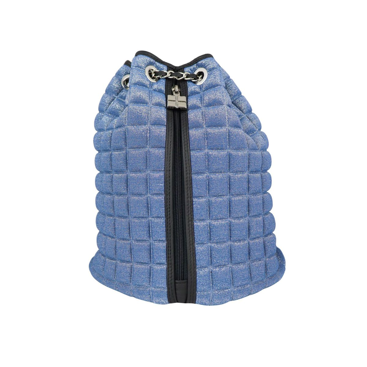 Chain backpack in lurex Cube 3D fabric Sky BPRIME