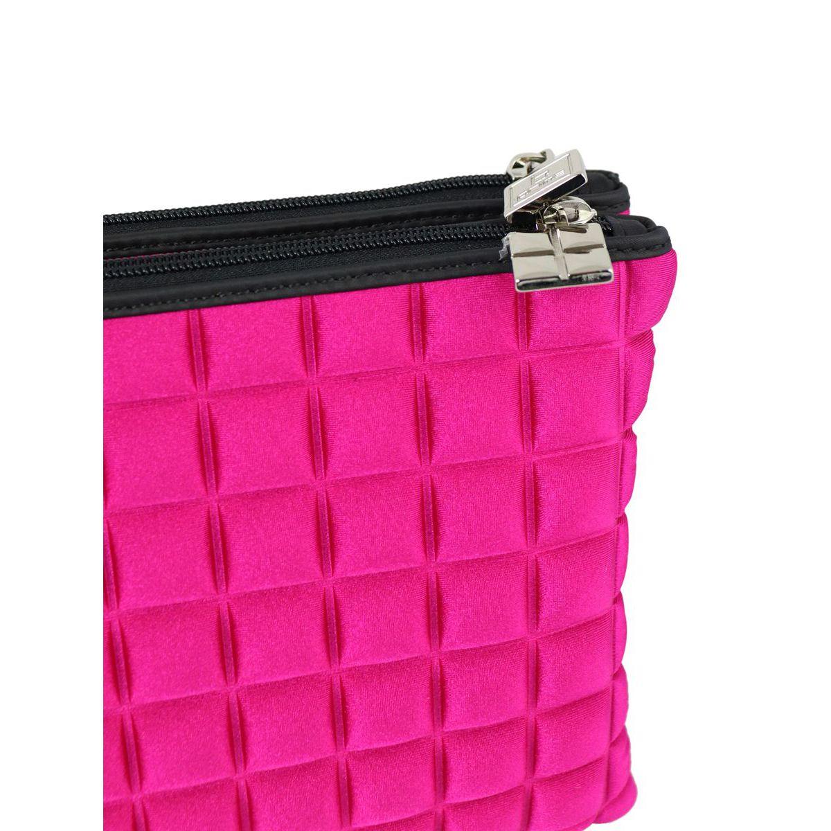 Double maxi bag in cube fabric Fuchsia BPRIME