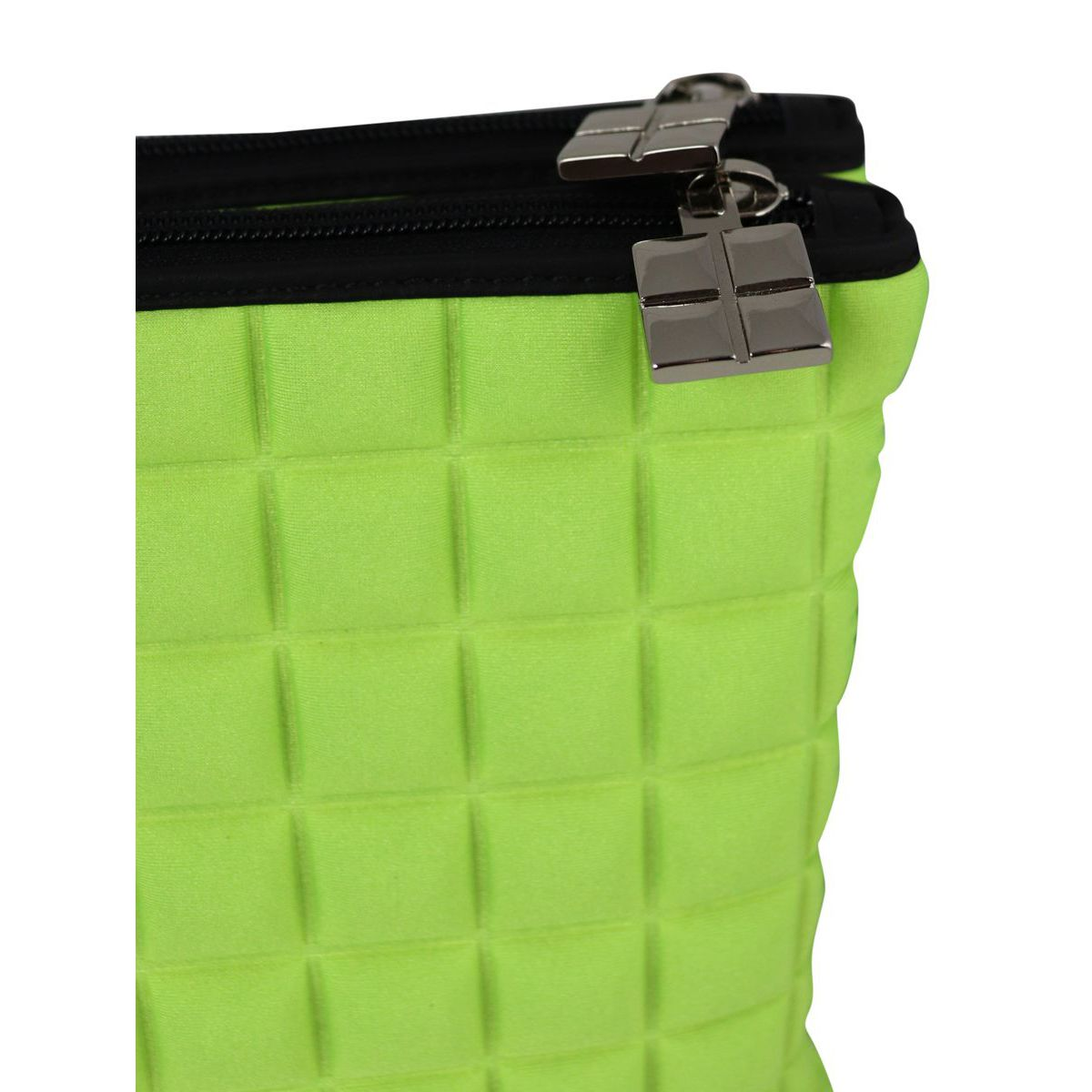 Double maxi bag in cube fabric Fluo yellow BPRIME