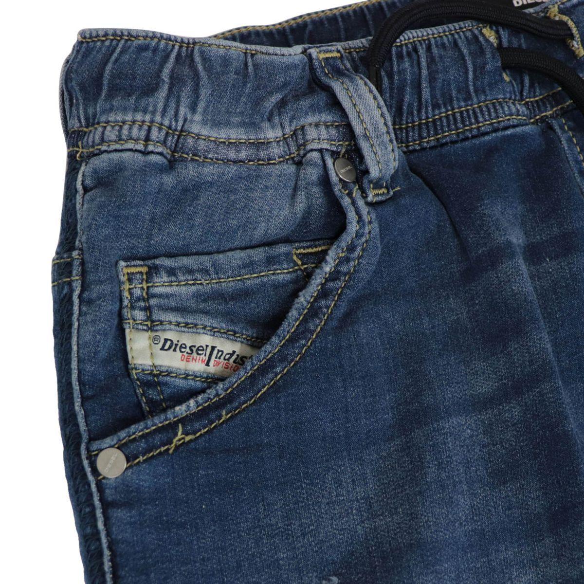 Krooley bermuda in stretch denim with elastic waistband Medium denim Diesel