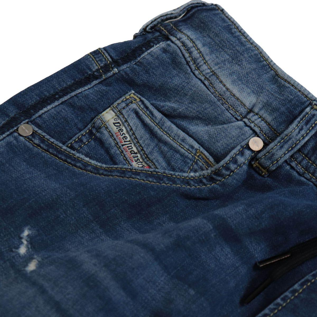 Krooley jeans in stretch denim with elastic waistband Medium denim Diesel
