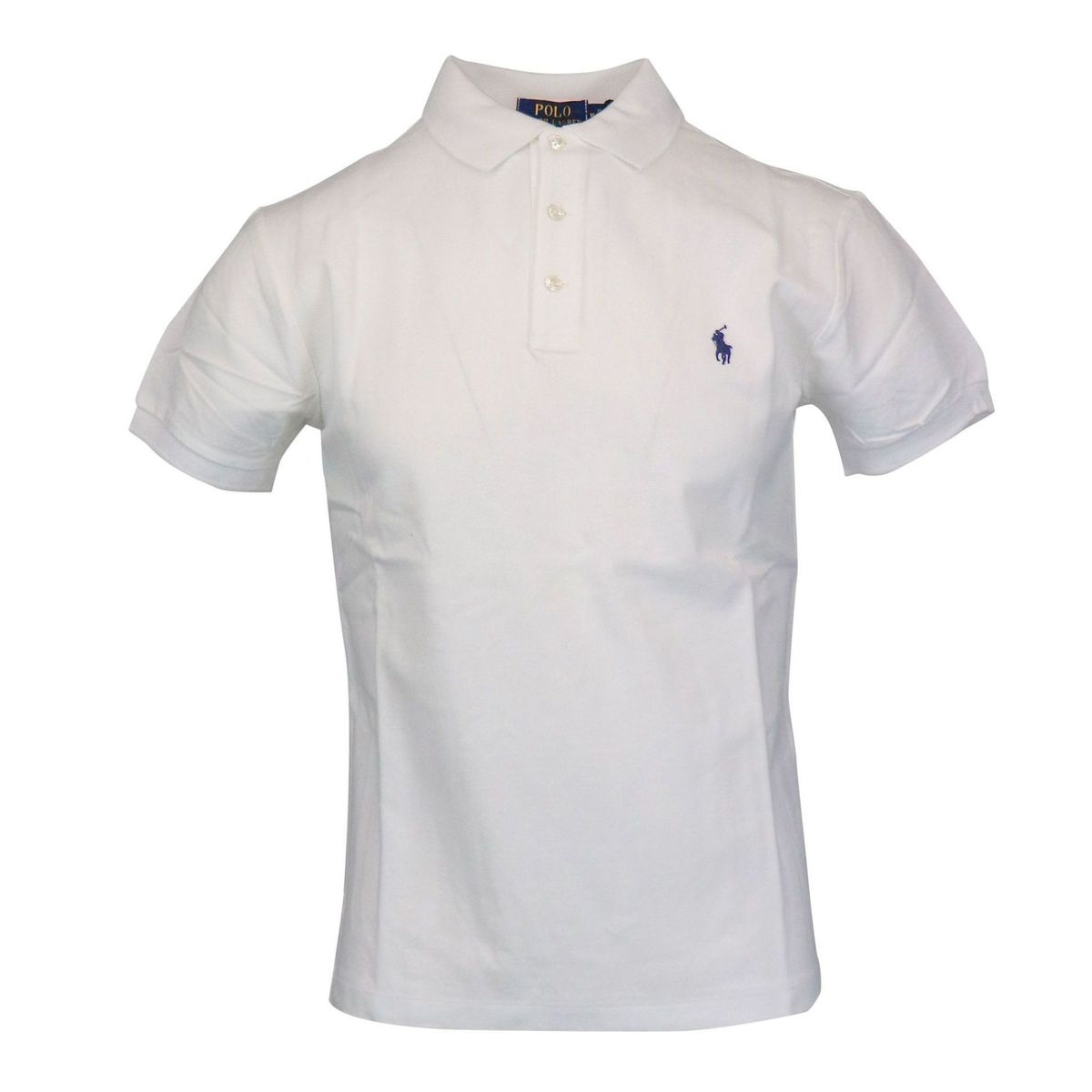 Slim-fit polo shirt in cotton piquèt with logo embroidery White Polo Ralph Lauren