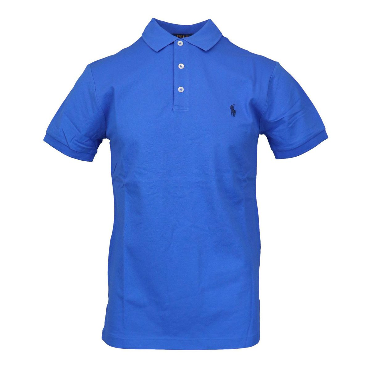 Slim-fit polo shirt in cotton piquèt with logo embroidery Blue Polo Ralph Lauren