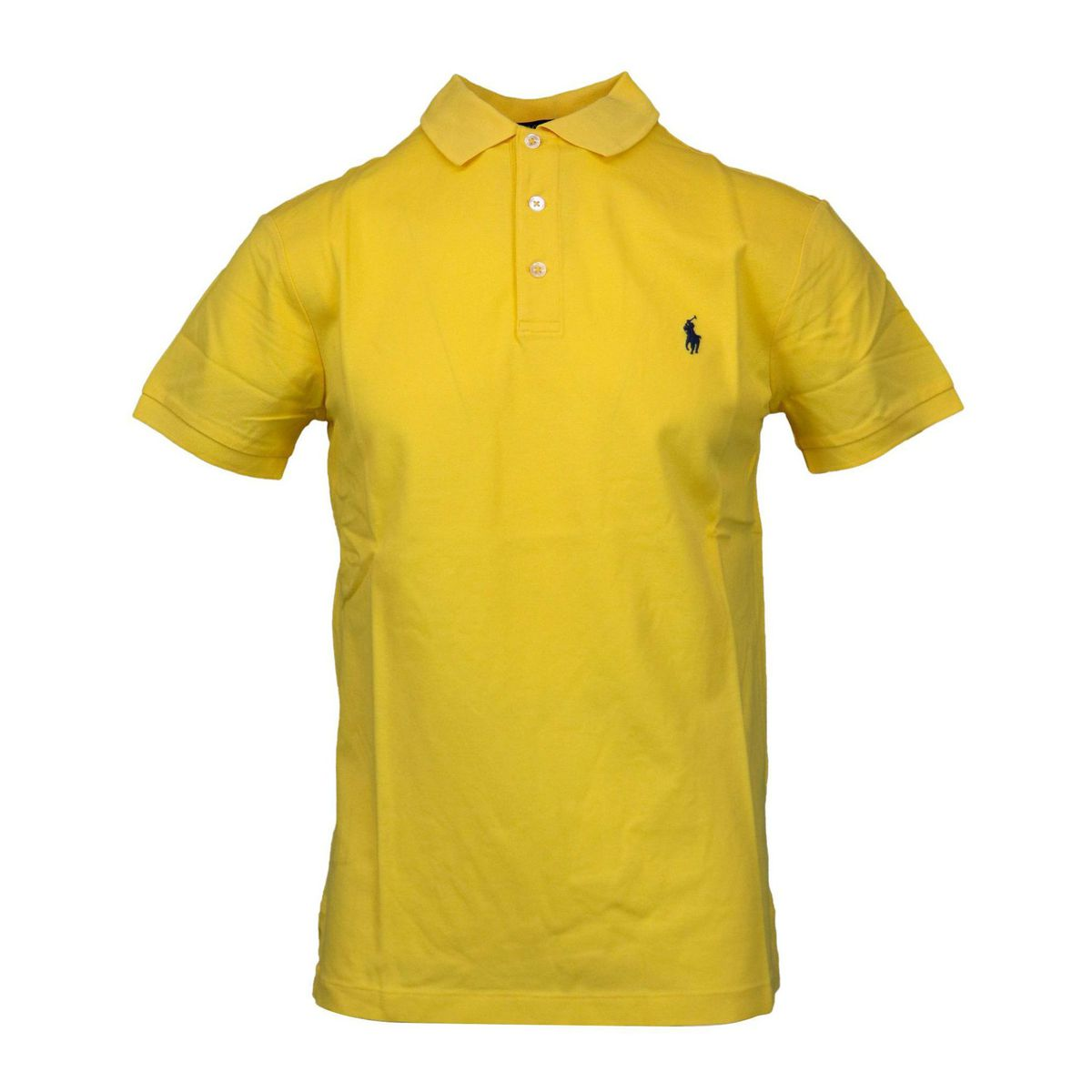 Slim-fit polo shirt in cotton piquèt with logo embroidery Yellow Polo Ralph Lauren