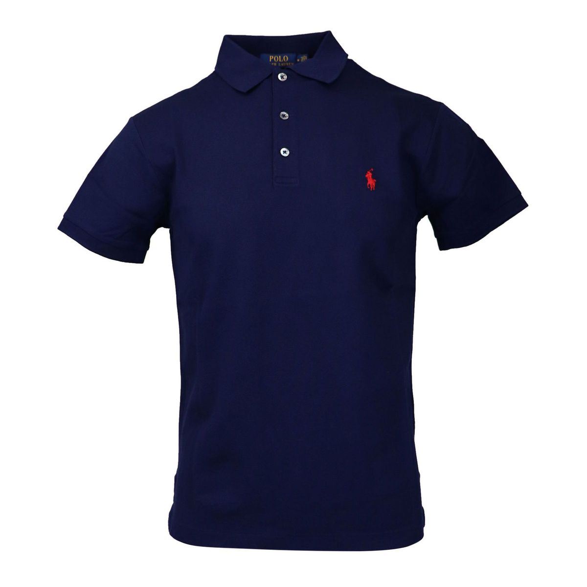 Slim-fit polo shirt in cotton piquèt with logo embroidery Navy Polo Ralph Lauren