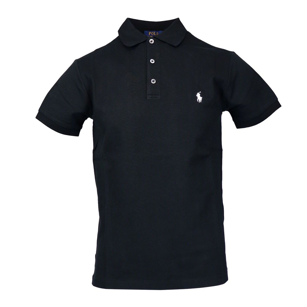 Slim-fit polo shirt in cotton piquèt with logo embroidery Black Polo Ralph Lauren