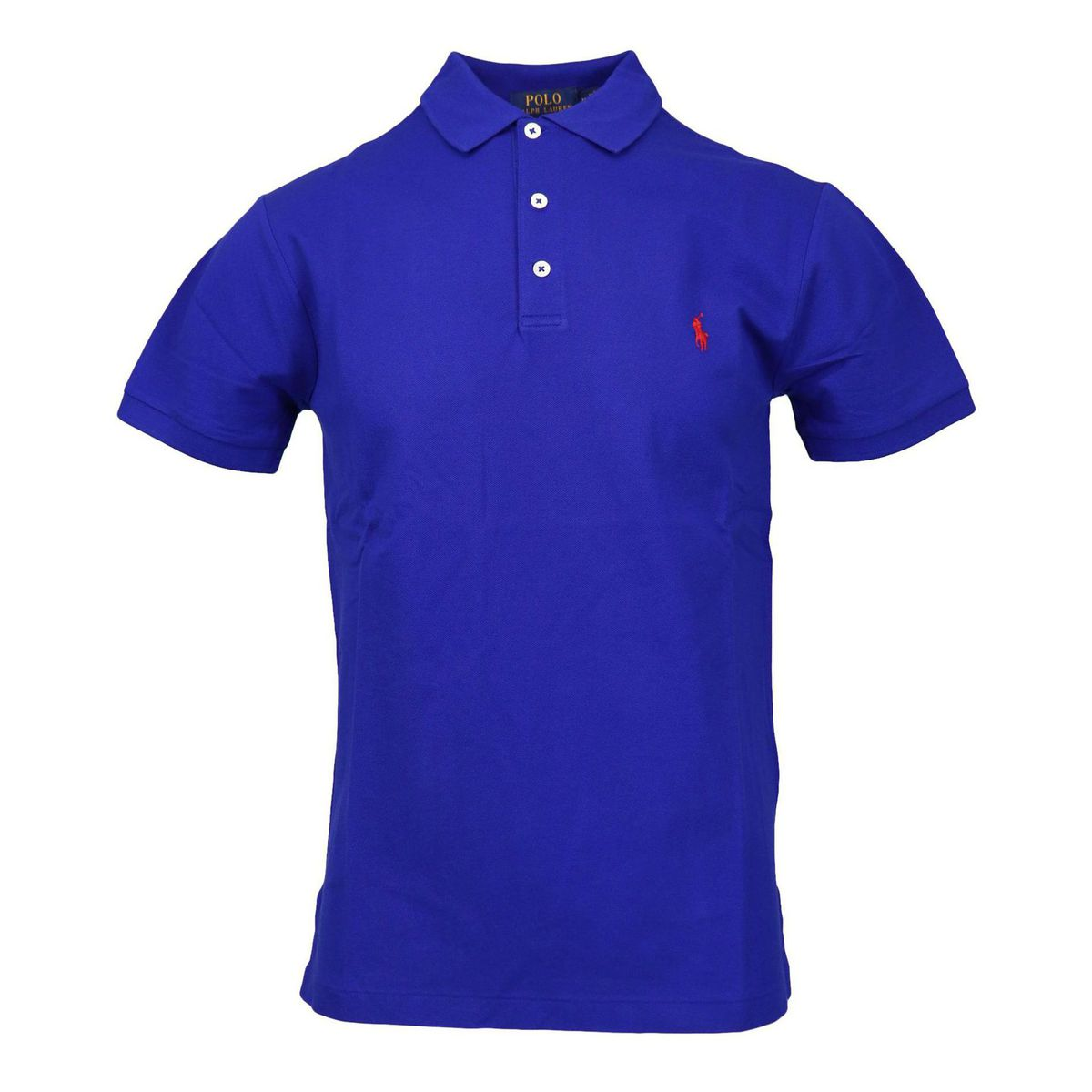 Slim-fit polo shirt in cotton piquèt with logo embroidery Royal Polo Ralph Lauren