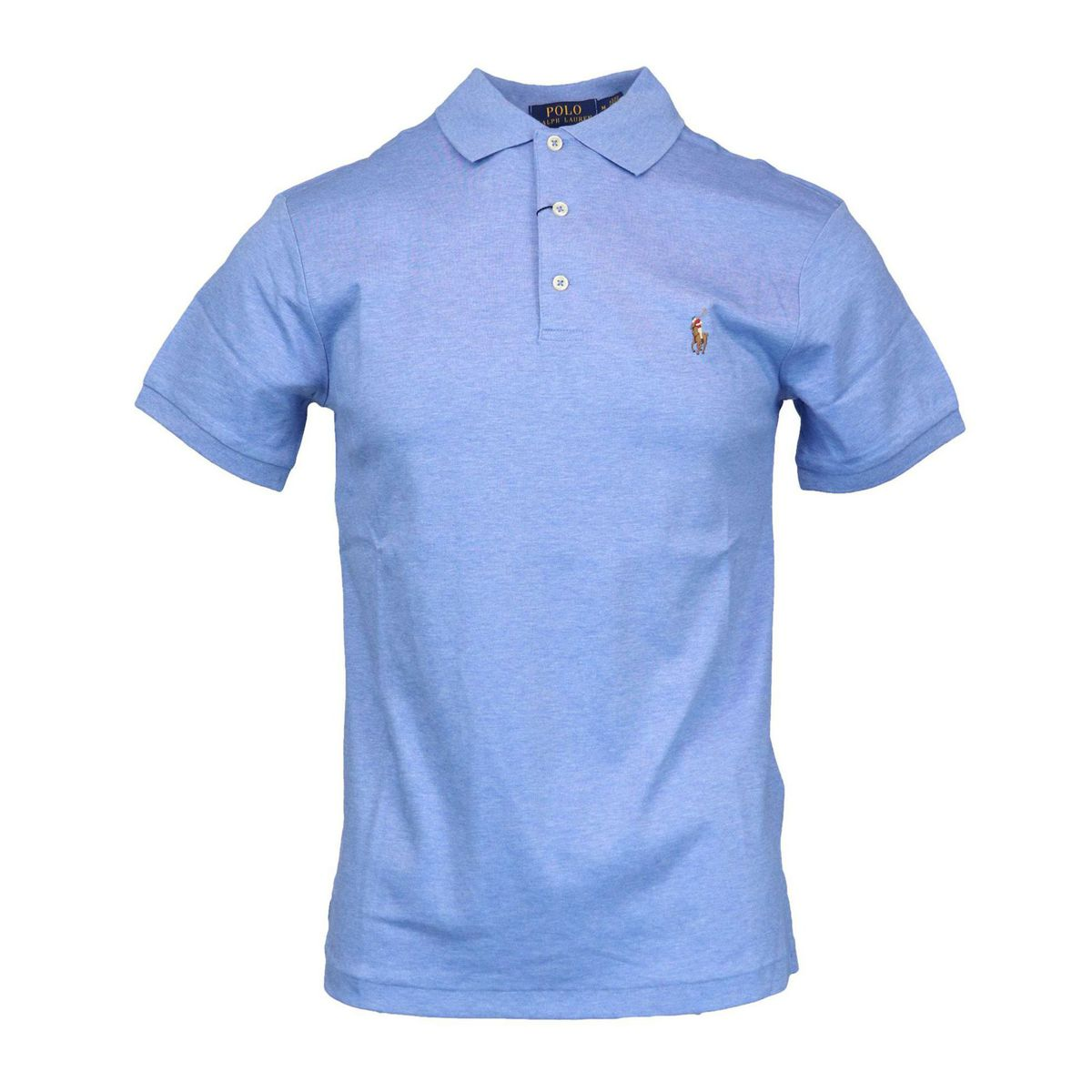 Slim-fit three-button cotton polo shirt Sky Polo Ralph Lauren