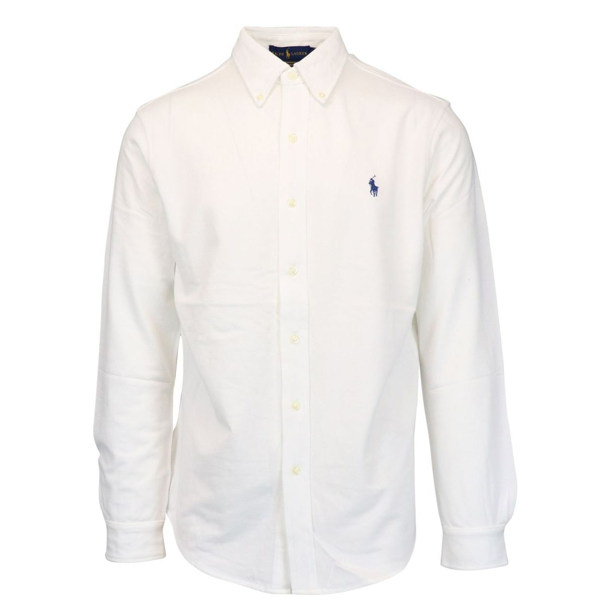 Regular-fit shirt in cotton piquèt with logo embroidery White Polo Ralph Lauren
